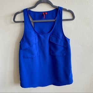 5/48 Blue Sleeveless Blouse Small